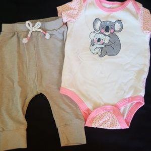Cat & Jack Matching Sets - Baby girl Koala outfit
